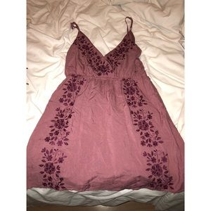 Purple embroidered summer dress